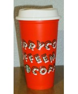 Starbucks RED Reusable Hot Cup Grande 16oz MERRY COFFEE Christmas Holida... - $13.26