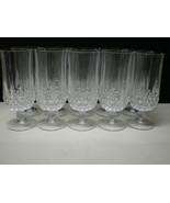 10 Cristal d'Arques Longchamp Footed Lrg Ice Tea Tumblers ~~~ discontinued  - $99.95