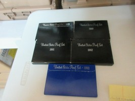 U.S. Mint Proof Sets , 1979 , 1980 , 1981, 1982 , 1983 , Original Package - $32.67