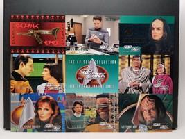 1995 Star Trek The Next Generation Season 3 Prototype Promo Card Sheet P1 - $9.89
