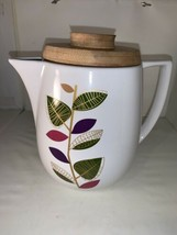 NEW Coastal Cocktails Inc. Teapot Coffee Pitcher Bamboo Lid Modern Style... - $18.69