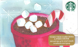 Starbucks 2015 Holiday Hot Chocolate Collectible Gift Card New No Value - $2.99