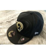 NEW ERA Los Angeles Rams Sideline NFL 59FIFTY Fitted Hat Cap size 8 Fast... - $19.99