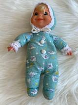 Vtg 70s Mattel  Booful Baby Beans Doll Blue Hood Sheep Bonnet - $98.95