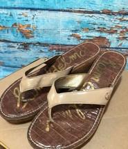 Sam Edelman Women's Sz 9 Nude Patent Sandals Wedges Romy - $29.69