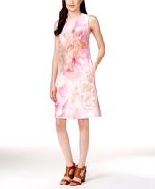 New Tommy Hilfiger Women's Sleeveless Floral Scuba Sheath Dress Pink Size 6 - $49.29