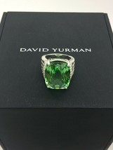 David Yurman 925 20x15 Wheaton Prasolite Diamonds Ring Sz 6.5 - $740.94