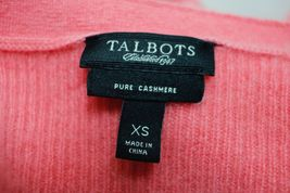 Talbots 100% Cashmere V-Neck Sweater Size XS Pink Pullover Lightweight image 6