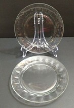 Lot 2 Vintage thumbprint Arcoroc France Clear 7.5 inch Plates - $14.93