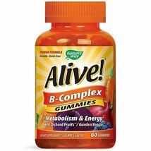 Natures Way Alive! B-Complex Gummy Vitamins Multivitamin Supplements 60 ... - $20.03