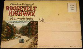 "Roosevelt Highway Pennsylvania Antique Souvenir Postcard Folder Curt Teich 6""x4 - $19.99"