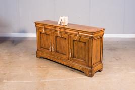 "69"" L Cabinet Au Lait Buffet Sideboard Fruitwood Finish Solid Walnut,6 keys - $3,440.25"