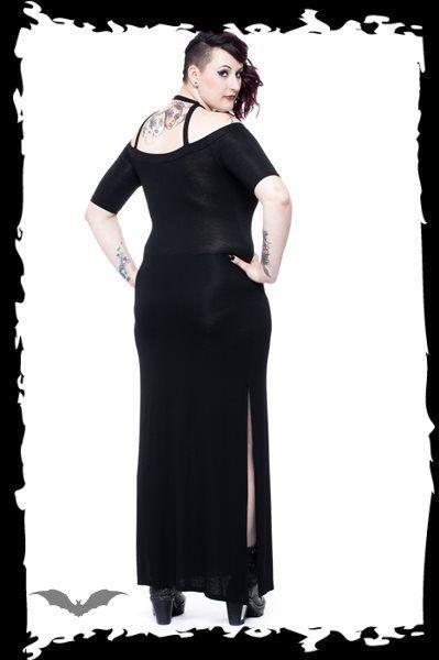 Women's Long Goth Dress Pentagram Occult Reg&Plus Sizes Witch Esoteric Alt Style