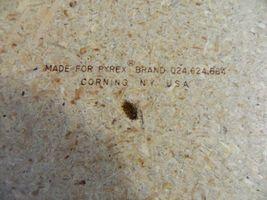 Vintage Pyrex Wicker Wood 2 Qt Casserole Dish Holder Cradle Fits 024 624 684 image 8