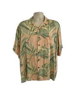 Joe Marlin Hawaiian Aloha Friday Pink Silk Button Front Shirt XL Pocket ... - $29.69