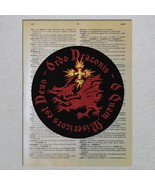 Choose Quote Dracula Order of Dragon Draconis Vlad Tepes  Dictionary Art... - $11.00