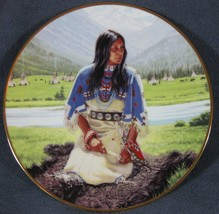 Falling Star David Wright Noble American Indian Women Collector Plate wi... - $34.97