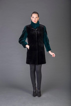 Luxury gift/Green Dark Brown Beaver Fur Coat  /Wedding,or anniversary pr... - $1,250.00