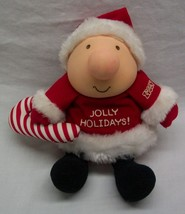 "VINTAGE ""JOLLY HOLIDAYS"" CUTE ZIGGY IN SANTA SUIT 5"" Plush Stuffed DOLL TOY - $16.34"