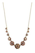 Michal Negrin Brass Necklace Swarovski Crystals  #100171780007 - $167.31