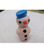 Rare Vintage Soviet USSR Russian Rubber Toy Snowman About 1970 - $34.24