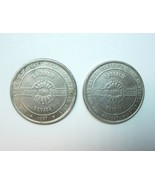 Lot of 2 Vintage 1987 Colorado Belle Laughlin NV $1 Gaming Token Coins - $9.99