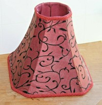 Dale Tiffany Fabric Red w Black Embroidery Lamp Shade Vine pattern & Bra... - €25,69 EUR