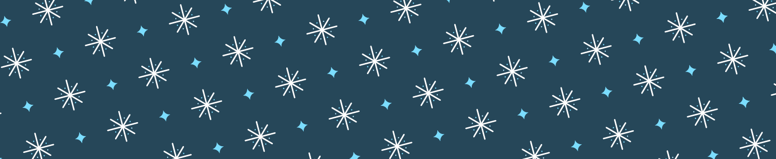 banner with snowflakes