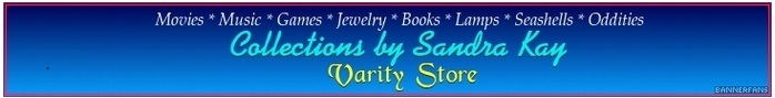 A welcome banner for Sandra Kay's Varity Store