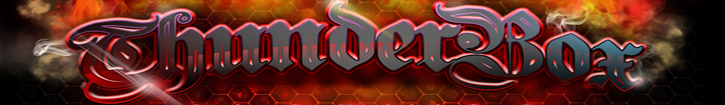 A welcome banner for Thunderbox Clothing