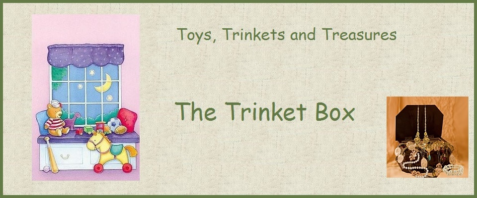A welcome banner for The Trinket Box