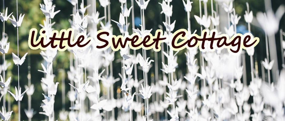 A welcome banner for Little Sweet Cottage