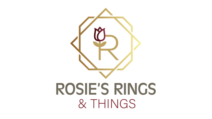 A welcome banner for Rosie's Rings and Things