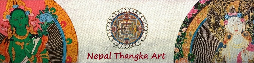 A welcome banner for Nepal Thangka Art
