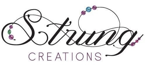 A welcome banner for Strung Creations