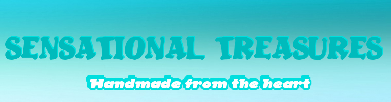 A welcome banner for SENSATIONAL TREASURES