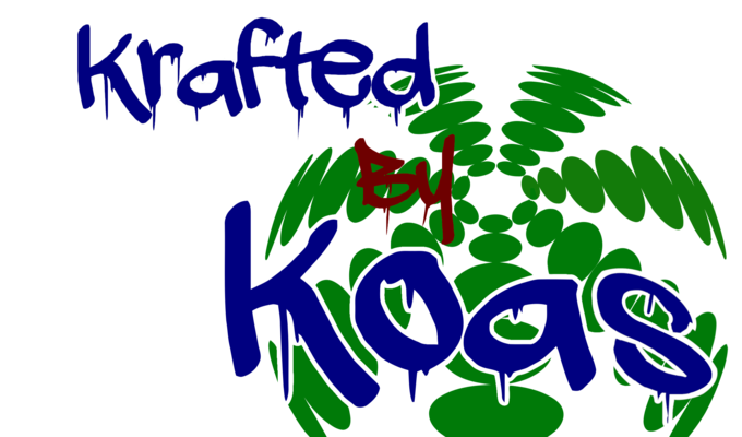A welcome banner for Krafted by Koas