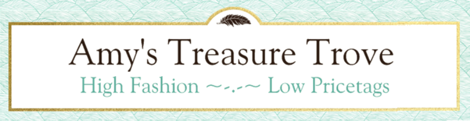 A welcome banner for Amy's Treasure Trove