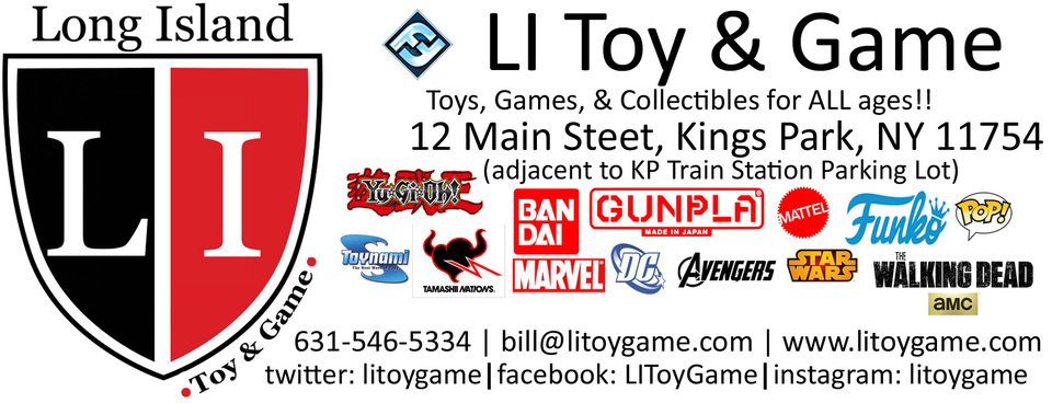 A welcome banner for LI Toy & Game