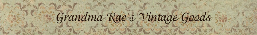 A welcome banner for Grandma Rae's Booth