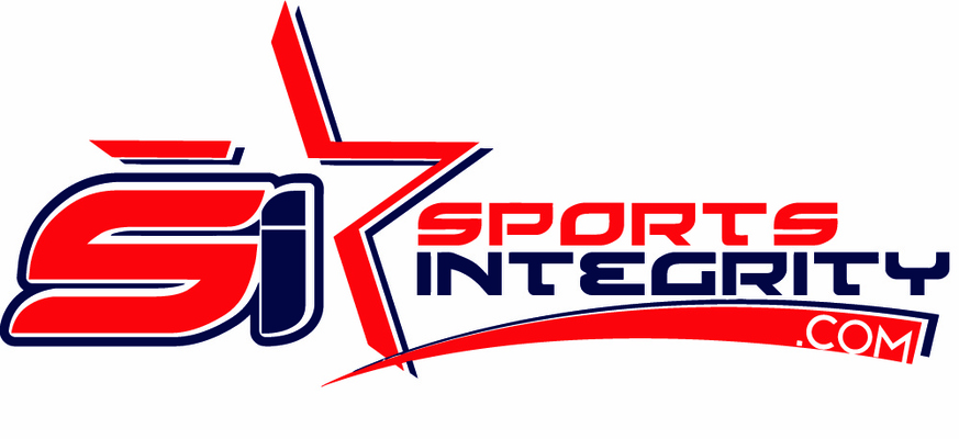 A welcome banner for Sports Integrity's booth
