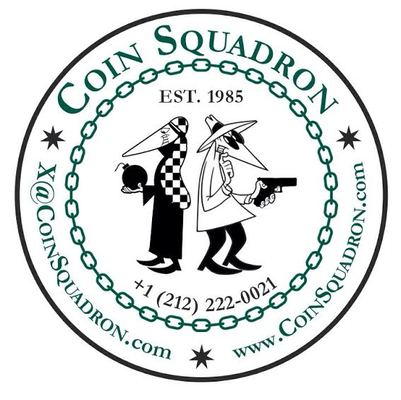 A welcome banner for CoinSquadron