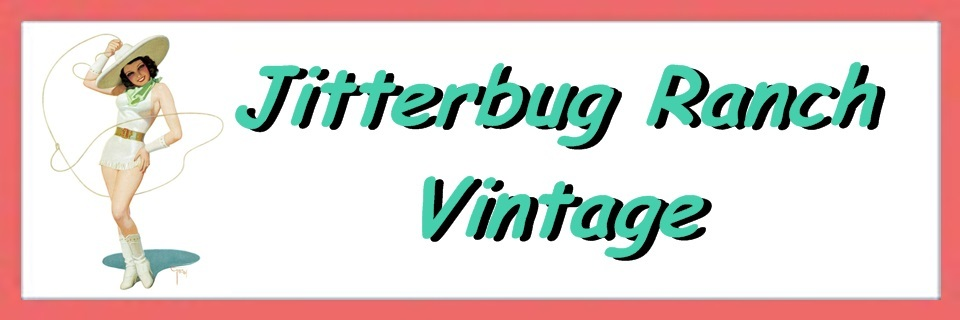 A welcome banner for Jitterbug Ranch Vintage