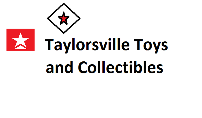 A welcome banner for Taylorsville Toys and Collectibles Booth