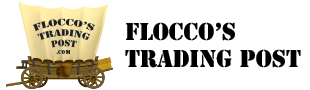 A welcome banner for Flocco's Trading Post