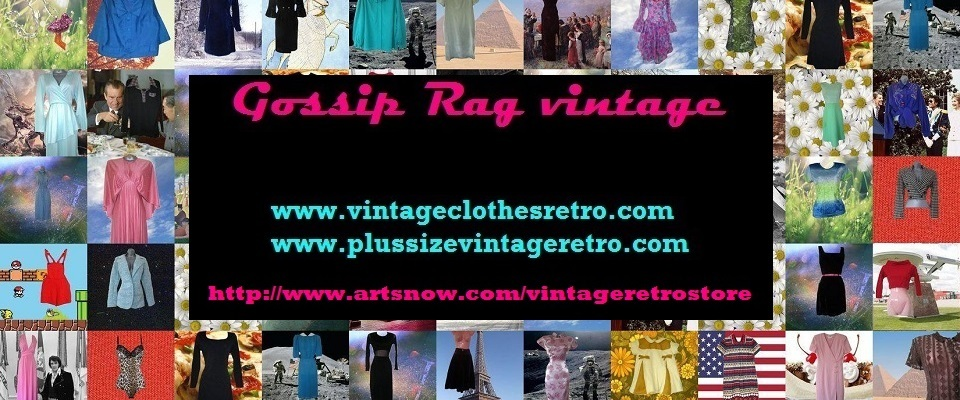 A welcome banner for Gossip Rag vintage clothing