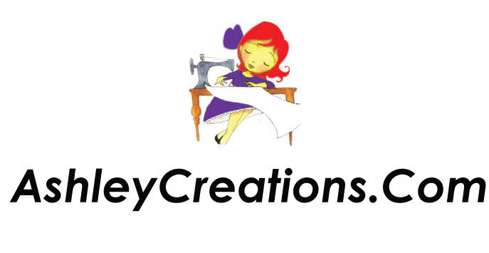 A welcome banner for AshleyCreations.Com