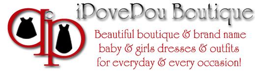 A welcome banner for iPovePou Boutique