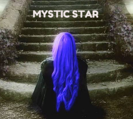 A welcome banner for MysticStarPsychic's booth