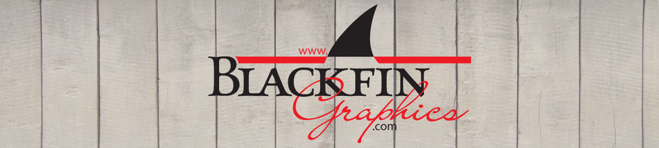A welcome banner for Blackfin Graphics